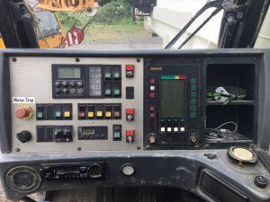 Controls inside cabin