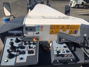 Controls inside Wirtgen W210i