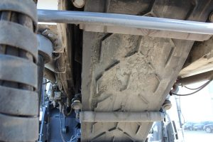 Under the conveyor on Wirtgen W210i