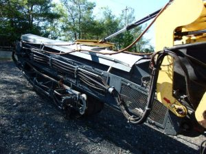 Side view of conveyor