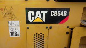 Close up of the Caterpillar CB54B