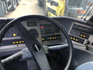 Close up of the steering wheel