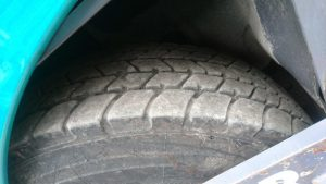 Close up of the tire