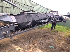 Side view of the conveyor