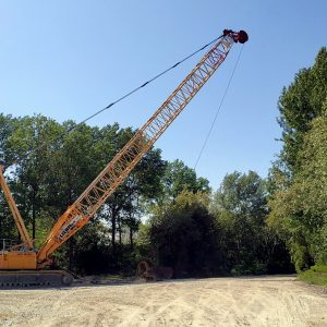 Wide view of Liebherr HS 895 HD
